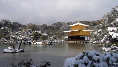 冬の 金閣寺(鹿苑寺)